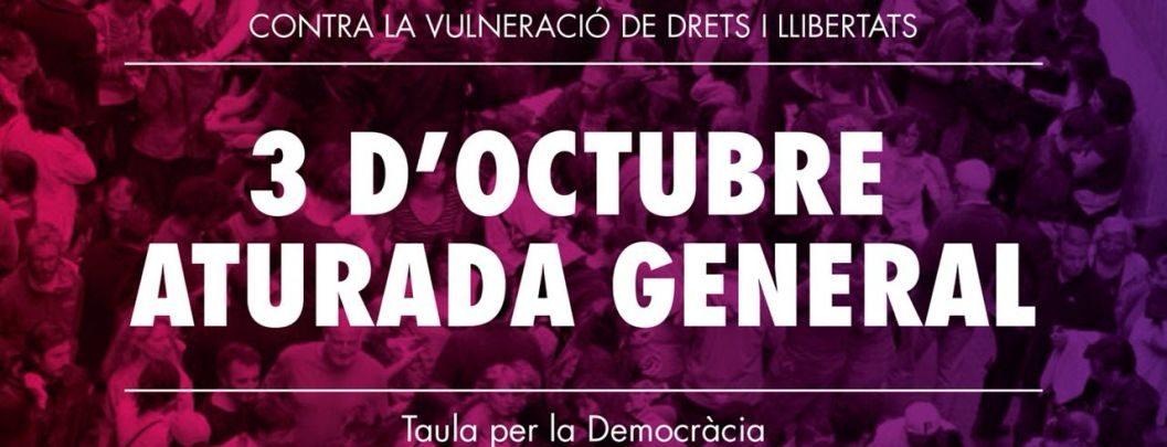 Crida al conjunt de la societat catalana a mobilitzar-se