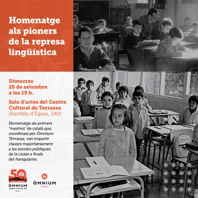 homenatge mestres de català Òmnium