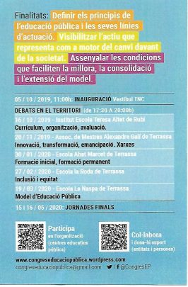 Debats del Vallès Occidental del Congrés d'Educació Pública