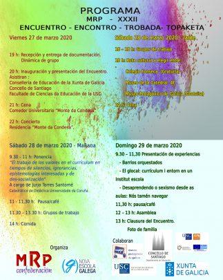 Programa XXXII Encuentro MRP Estat