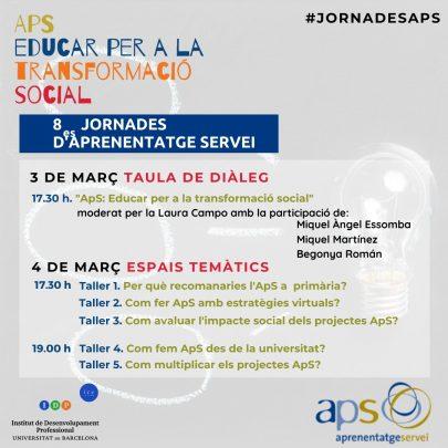 8enes Jornades APS. Educar per a la transformació social.